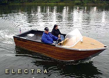 Photo of Motion Marine's earth friendly all electric boat.