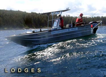 Working photo of one of Motion Marine's custom boats for a lodge in Canada.