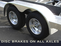 Disc brakes on all axles.
